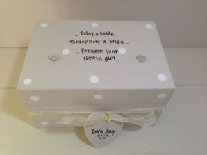 Shabby Personalised Chic Gift Mother Of The Bride Trinket Box Jewellery Mum